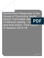 Government Response to the House of Commons Health Select Committee