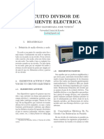 CIRCUITO DIVISOR DE CORRIENTE ELECTRICA