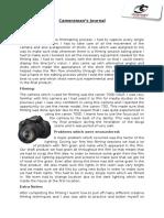 Cameraman's Journal