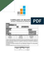 GROWUP | FORMULARIOS | FORMULARIO DE INSCRIPCION