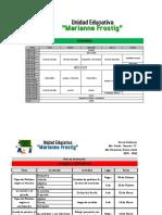Horario y Planes de Evaluación - 2do Momento (Enero - Abril) - Marianne Frostig