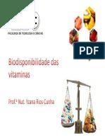 Biodisponibilidade de Vitaminas 2013 Ftc [Modo de Compatibilidade]