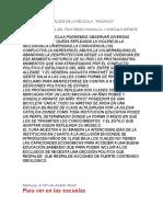 Análisis de La Pelicula Machuca