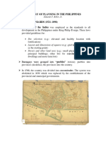 History of Philippine Planning A Compendium