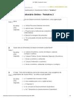 Desenvolvimento Sustentável - Questionário