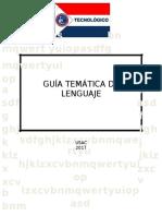 Guia Tematica Lenguaje Usac 2017