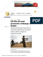 us lifts 20-year economic embargo on sudan   sudan news   al jazeera