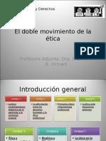 El doble movimiento de la Ética contemporánea. La dialéctica de lo Particular y lo Universal - Singular (Clase inaugural).ppt