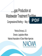 Biogas Production at Wastewater Treatment Facilities