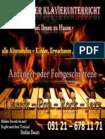 Plakat Klavierunterricht 01082014