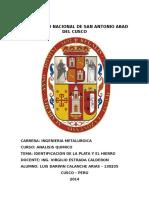 Identificación de La Plata y El Hierroq