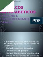 FÁRMACOS  ANTIDIABETICOS