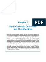 Basic Concepts, Definitions and Classifications in Economics