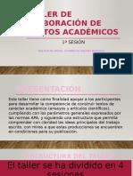 Taller de Elaboración de Textos Académicos