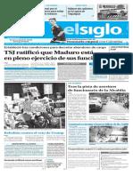 Edición Impresa Elsiglo 31-01-2017