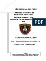Silabus Uso Armas Fuego IV 07nov16-11mar17