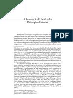 Heidegger Letter to Karl Lowith