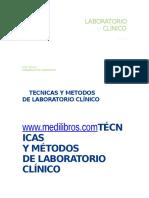 Tecnicas y Metodos de Laboratorio2 Clinico Medilibros Com