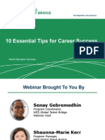 WES Global Talent Bridge Webinar 10 Essential Tips for Career Success 01-19-2017