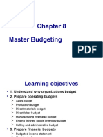 Chapter 8 Master Budgeting