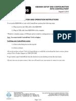 KBD5000 Configuration Operation Instructions
