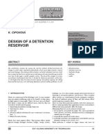 Design of a Reservoir Detention