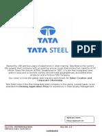 Tata Steel Application Form