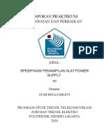 LAPORAN Spesifikasi Power Supply