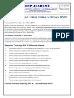 trainingk3l.com - Training Ahli K3 Umum Utama Sertifikasi BNSP