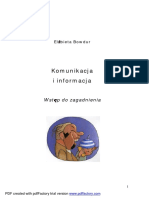 Bowdur - Komunikacja i Informacja. Wstep Do Zagadnienia.