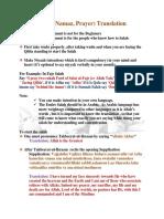 Salah Translation - Full