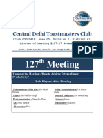 Minutes of Meeting - CDTM 127th Meeting - 17 November 2015