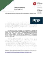 Comunicat de Presa - Raportul Pentru Bucuresti
