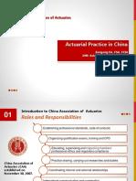 M6 Final Slides - Jiangang He - Actuarial Practice in China