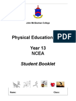 year 13 pe student information booklet  2017