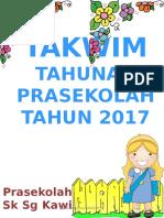 TAKWIM PRASEKOLAH 2017