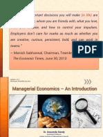 Intro to Managerial Economics