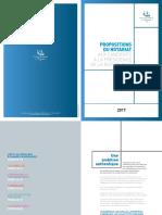 Propositions du notariat pour l'élection présidentielle