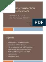 Transaction Implementation Using WSIT - Slides
