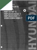 Operators manual forklift Hyundai HBF