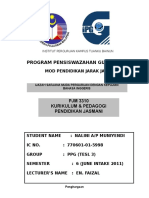 Assignment PJM 3110