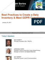 Best Practices to Create a Data Inventory and Meet GDPR Compliance