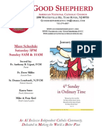 Good Shepherd ANCC Weekly Bulletin
