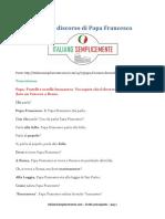 Discorso Papa Francesco