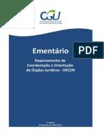 Ementario Departamento de Coordenacao e Orientacao - Decor - 3- Edicao