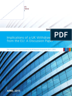 Implications of a UK Withdrawal From the EU_ a Discussion Paper (April 2015) Short Paper