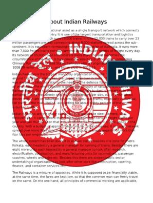 Indian Railways   Price Discrimination   Monopoly