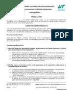Perfil de Ingreso del Ingeniero en Negocios y Gestión Empresarial