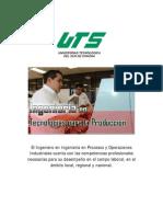 Perfil de Ingreso del Ingeniero en Tecnologías para la Producción