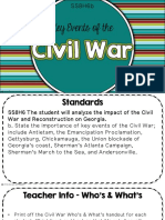 the civil war strand b clozed notes